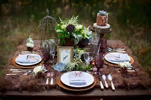 Nautical Themed Table Centerpieces - romantic forest wedding inspiration glamour amp grace