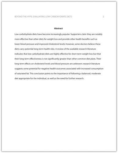 formatting  research paper business communication