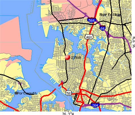 zip code map norfolk va 23508 zip code norfolk virginia profile homes