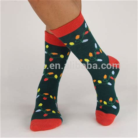 combed cotton light up christmas socks decoration buy