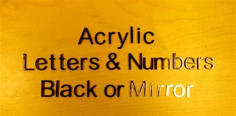 black mirror font acrylic letters numbers black or mirror choice of 6
