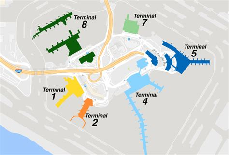 jfk map terminal map and information jfk airport