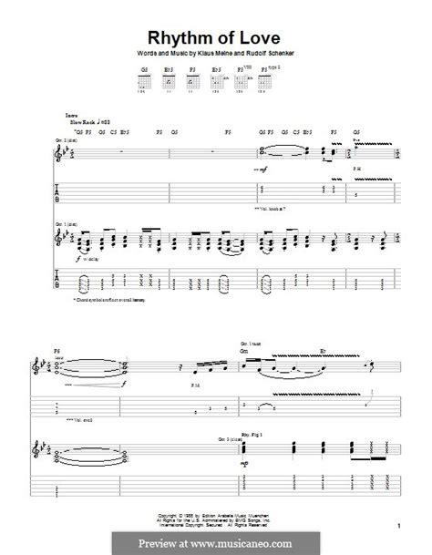 swing to the rhythm of love chords rhythm of love scorpions by k meine r schenker on