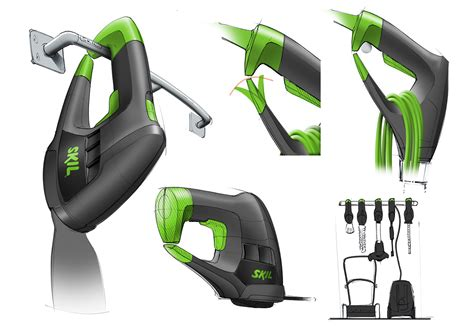 design concept of a powered hand tool electric garden tools for skil on behance