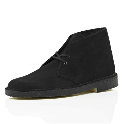 black desert boots river island black clarks originals suede desert boots in