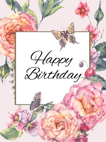 Flower Cards For Birthdays Birthday Flower Cards Birthday Greeting Cards By Davia
