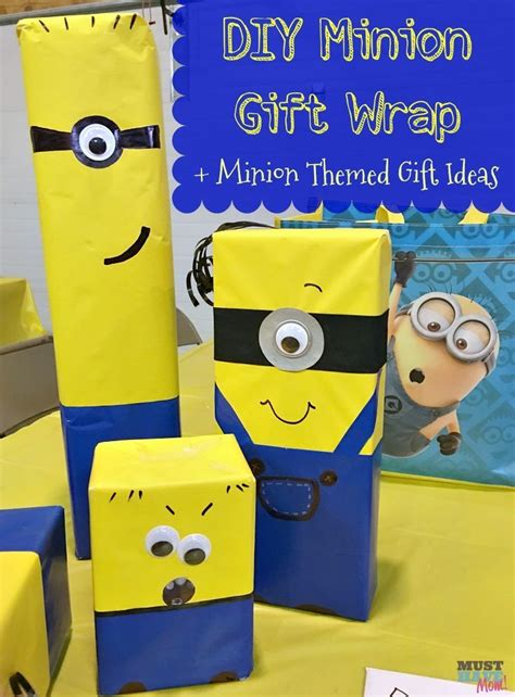 minion gift wrap 15 must see minion gifts pins wrapping ideas wrapping