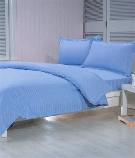 double bed sheets trance sky blue double bed sheet with 2 pillow covers