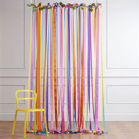 ribbon curtains ready to hang ribbon curtain backdrop carnival brights by