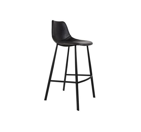 Tabouret De Bar Noir 1631 by Chaise Ou Tabouret De Bar Assise Cuir Noir