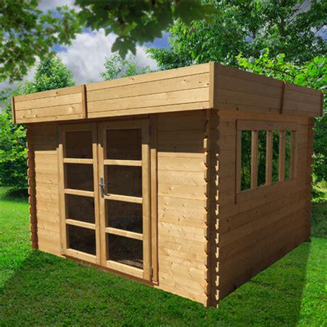 abris de jardin bois toit plat chalet jardin boutique abri bois soleil toit plat 9m abri de jardin soleil toit plat