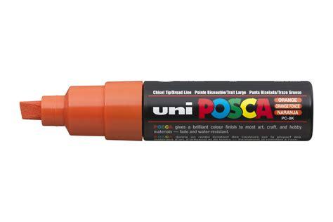 uni posca pc 8k broad chisel tip multi surface paint marker pen orange quickdraw