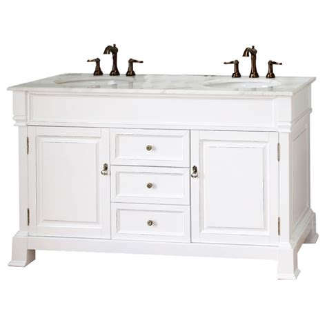 60 inch bathroom vanity in white uvbh205060dwh60