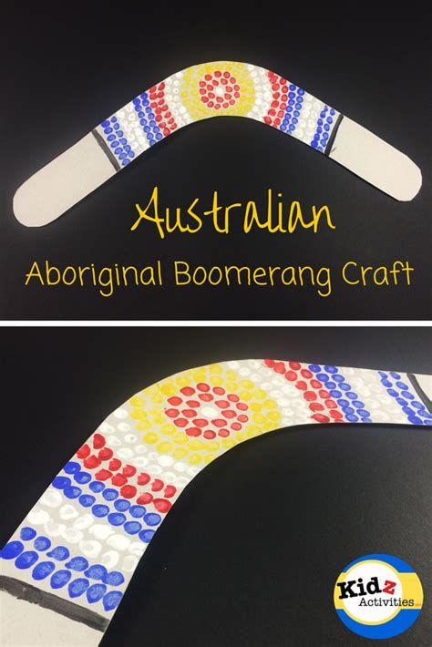 aboriginal craft for australian aboriginal boomerang craft kidz activities