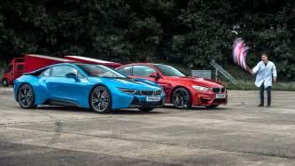 Top Gear Bmw I8 Bmw I8 Vs Bmw M4 Top Gear Drag Races