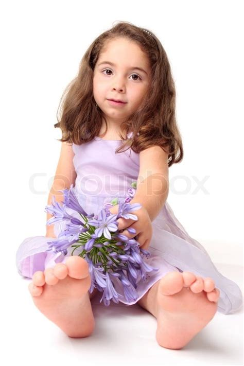 3d preschool girls a young toddler girl wearing a pretty dress and sitting on