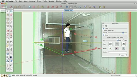 sketchup layout grid lines sketchup tips and tricks using the matched photo feature