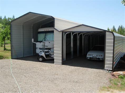 Rv Car Port by Metal Rv Storage And Carports