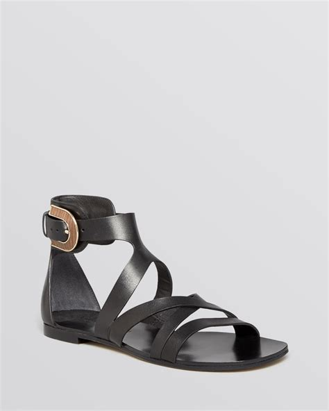 gladiator flat shoes sigerson morrison flat gladiator sandals cadee in black lyst
