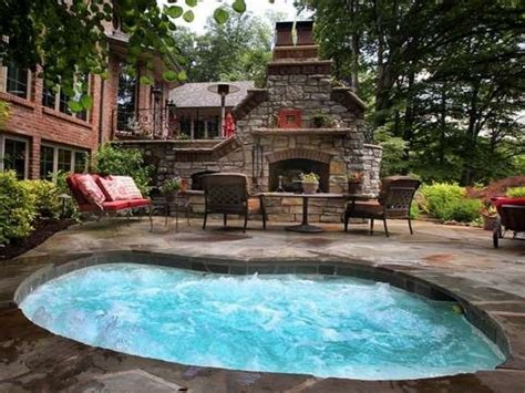 patio interior jacuzzi outdoors patio outdoor fireplace hot tub jacuzzi spas