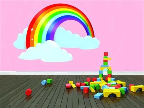 rainbow wall mural funky rainbow wall decals funk this house