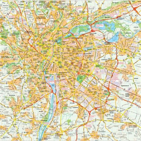 lyon on a map europe city maps vector wall maps made in barcelona