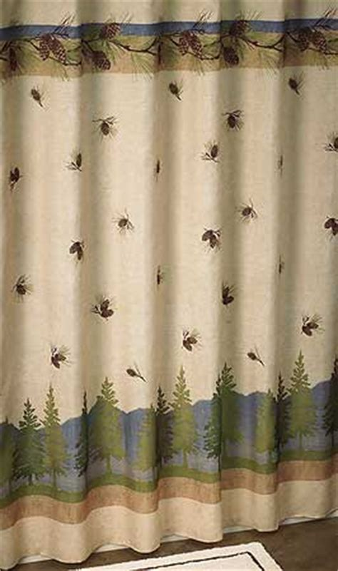 terry redlin shower curtain 4047619111 pinecone shower curtain