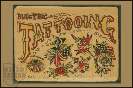 ohio tattoo history museum flash bicknee tattoo supply company