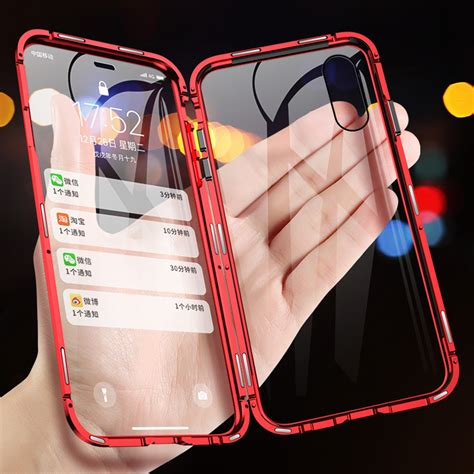 shop  double sided glass magnetic adsorption phone case