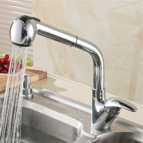 buy kitchen faucets online buy angeline deck mount pull out kitchen faucet online now funitic