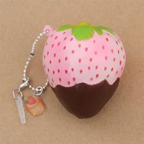 Squishy Puni Maru Mini Strawberry Original Licensed mini cheeki strawberry pineberry brown sauce scented squishy by puni maru squishy shop