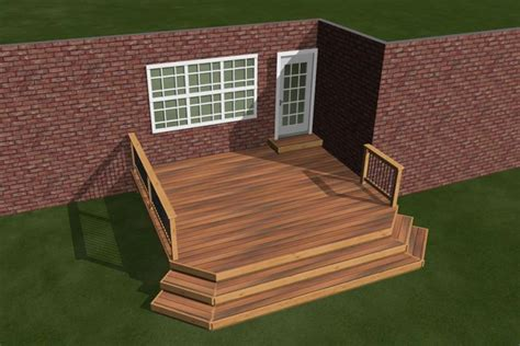 Diy Deck Plans by 1 Level Diy Deck Plans