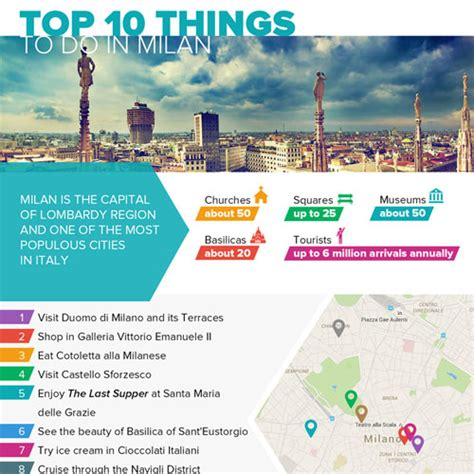 10 best things to do in milan infographic top 10 things to do in milan infographicbee