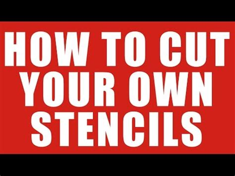 How To Make A Stencil Template how to cut your own stencils for painting or airbrushing