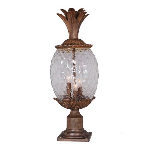 Pineapple Outdoor Light Fixtures Mariana Lighting 3 Light Pineapple Post Mount Light Atg Stores