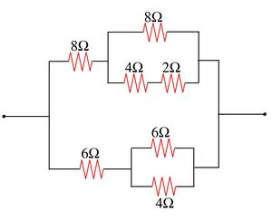 resistors are connected in series and parallel inheritance