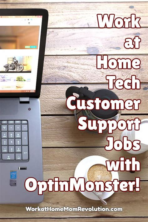 work at home tech customer support with optinmonster