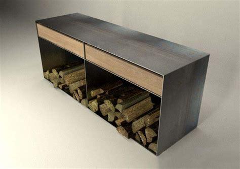 Schubladenfront Kaufen by Sideboard Eiche Holz Metall Kaminholzregal Innen Stahl
