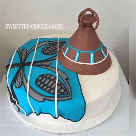 Sesotho hat and blanket African traditional wedding cake