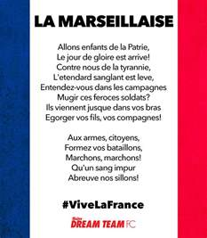 learn the words to la marseillaise ahead of v