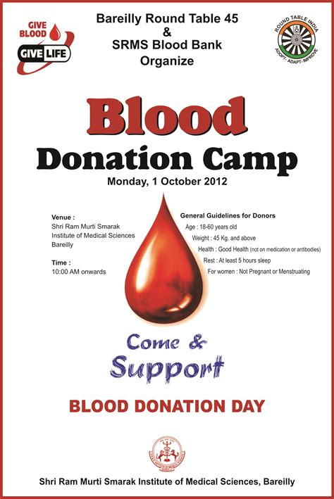 Blood Donation Letter Invitation blood bank c table india
