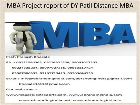How To Make A Project Report For Mba by Mba Project Report Of Dy Patil Distance Mba Authorstream