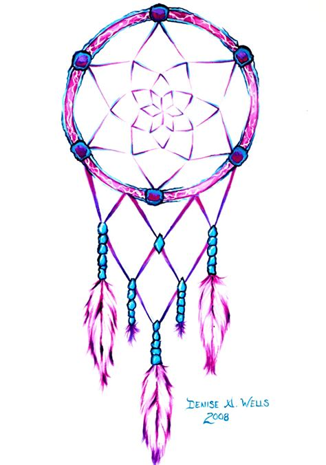 design of dream catcher pink dreamcatcher tattoo design by denise a wells flickr