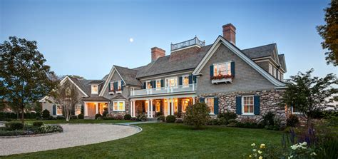 Lake House Design Plans by New England Shingle Style Residence Charles Hilton