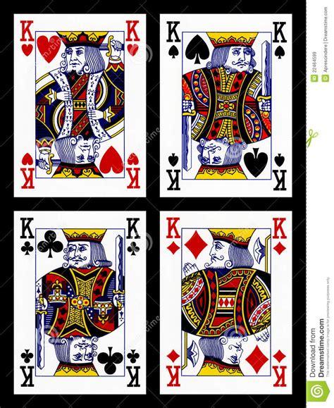cartes de jeu rois images libres de droits image 22464599