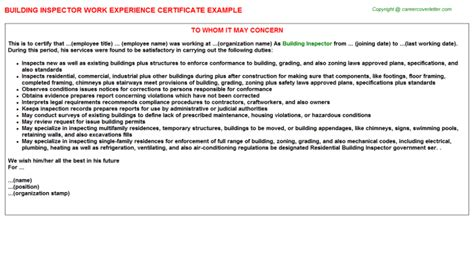 Inspector Description by Building Inspector Duties Plumbing Contractor