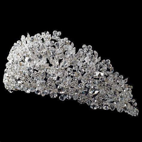 Crystal Amp Rhinestone Silver Couture Tiara 4485