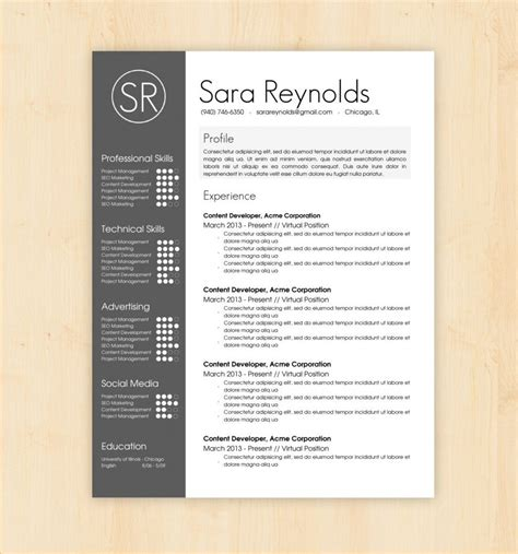 resume layout tips resume design templates profile experience professional