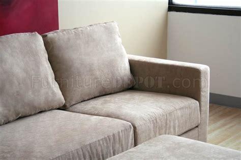 tan microfiber sectional tan microfiber contemporary sectional sofa and ottoman