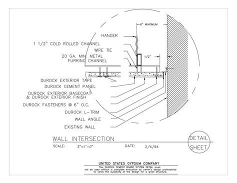gypsum ceiling section detail usg design studio vault ceiling download details